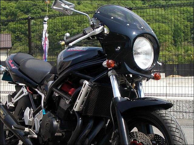 バンディット400(BANDIT)89〜94年 ロードコメット スモークスクリーン マーブルピュアレッド(07P) 通常スクリーン CHIC DESIGN(シックデザイン)