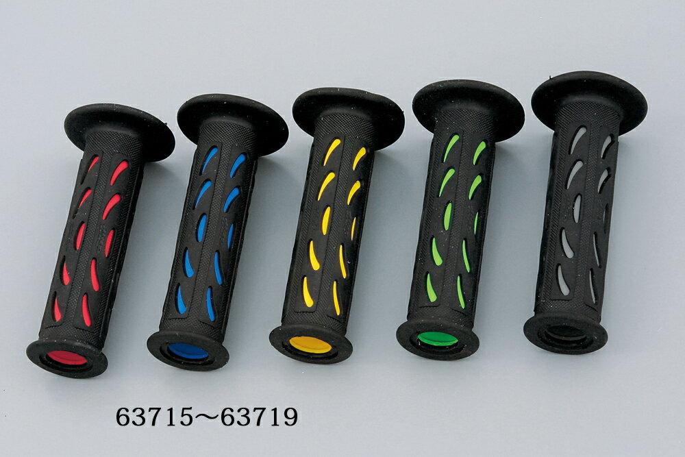 PRO GRIP(プログリップ)スーパーバイクグリップ 724タイプ エンド貫通 耐震ゲル ブラック/レッド DAYTONA(デイトナ)