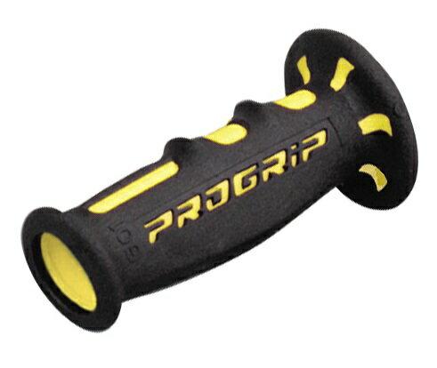 PRO GRIP(プログリップ)スーパーバイクグリップ 601タイプ エンド貫通 耐震ゲル ブラック/イエロー DAYTONA(デイトナ)