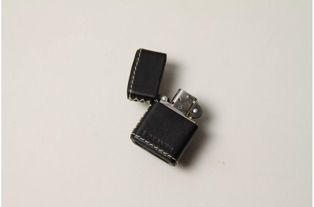 革張りZippo ブラック デグナー(DEGNER)