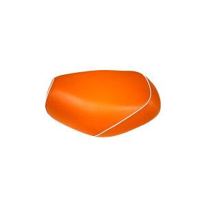 ジョグC(JOG)5BM/5EM 張替タイプ 国産シートカバー オレンジ/白パイピング GRONDEMENT(グロンドマン)