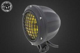 4インチビレットヘッドライト(ブラック) ステー無 ガレージT&F