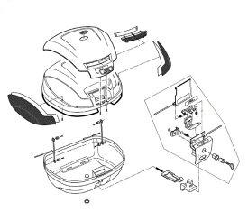 Z744R リフレクター(中央)裏紙付(E470補修品) GIVI(ジビ)