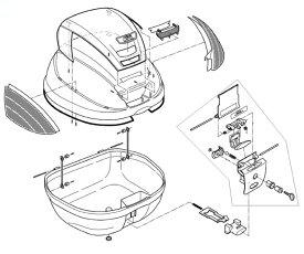 Z1383R リフレクター(左右セット)裏紙付(E370補修品) GIVI(ジビ)