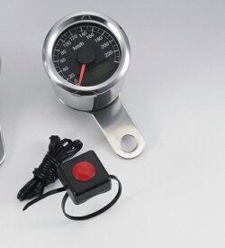 電気式スピードメーター 240km/h LEDパネル 48mm タイプB KIJIMA(キジマ)