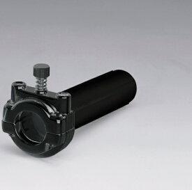 スロットルホルダー&パイプ 2本引きワイヤー専用ブラック KIJIMA(キジマ)