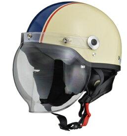 CROSS CR-760 ハーフヘルメット アイボリー/ネイビー フリー(57〜60cm未満) リード工業