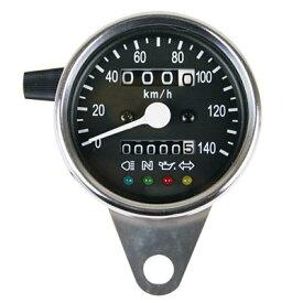 機械式スピードメーターΦ60 インジゲーターランプ付 1:4 GOODS(モーターガレージグッズ)