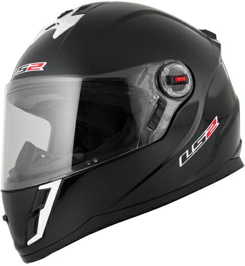 LS2 F-KIDS ブラックメタリック (キッズフルフェイスヘルメット) キッズフリー(53cm) MHR