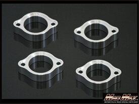 GPZ400F マフラーフランジセット(1台分)CNC アルミ削り出し シルバー MAD MAX(マッドマックス)