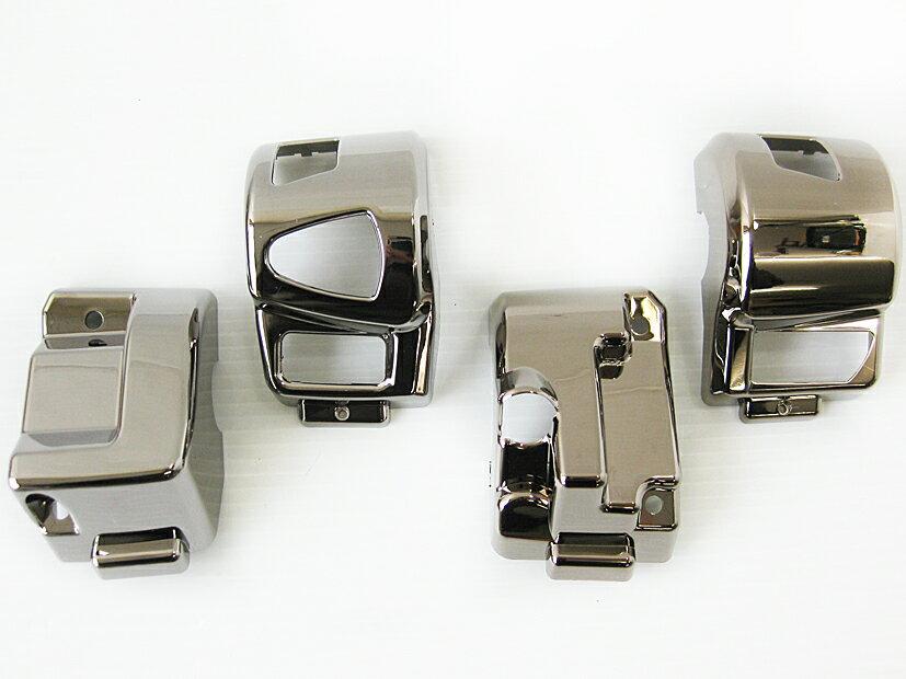 PCX125 ハンドルスイッチカバー ブラックメッキ MAD MAX(マッドマックス)