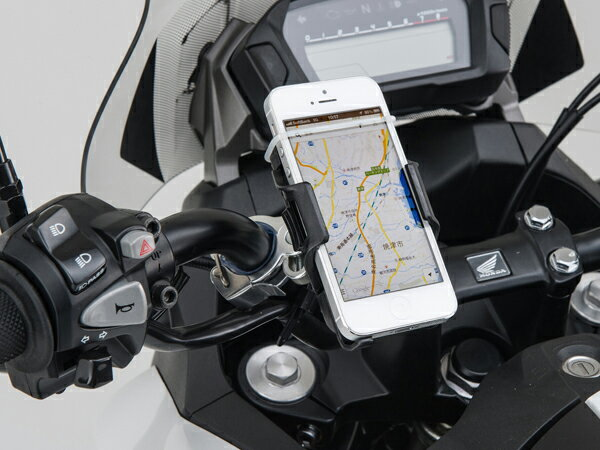 【おすすめ】【あす楽対象】バイク用 スマホ ホルダー バイク スマホホルダー スマートフォンホルダー クイックタイプ(工具なし簡単脱着タイプ) iPhone5 アイフォン5 DAYTONA(デイトナ)