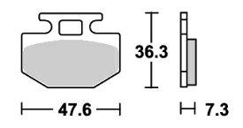 リード80SS(LEAD)85年 ストリート(セラミック)ブレーキパッド フロント用 E112 SBS(エスビーエス)