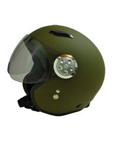 SPJ-9101S パイロット1 ジェットヘルメット マットカーキ フリーサイズ(58〜60cm) SPOON JET(スプーンジェット)