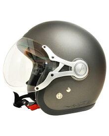 SPJ-9103S Gayla ジェットヘルメット SOLID マットガンメタル フリーサイズ(58〜60cm) SPOON JET(スプーンジェット)