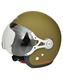 SPJ-9103S Gayla ジェットヘルメット SOLID マットカーキ フリーサイズ(58〜60cm) SPOON JET(スプーンジェット)