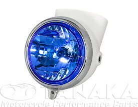 ダックス(DAX) ヘッドライト ホワイト/ブルー 田中商会