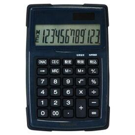 ナカバヤシ 電卓デスクトップ 防水タイプ S ブルー ECD-WR01BL