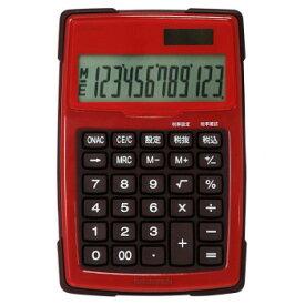 ナカバヤシ 電卓デスクトップ 防水タイプ S レッド ECD-WR01RD