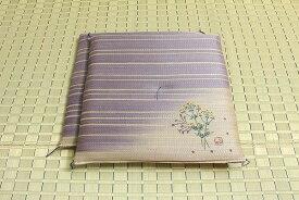純国産 捺染返し い草座布団 『女郎花(おみなえし) 2枚組』 約55×55cm×2P