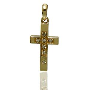 [3日以内に発送] ZERO LIMIT-original-(ゼロリミット)GZT-40 ダイヤ クロス ペンダント トップ K10金 ゴールド ダイヤモンド Dia Cross【ギフト包装-対応】