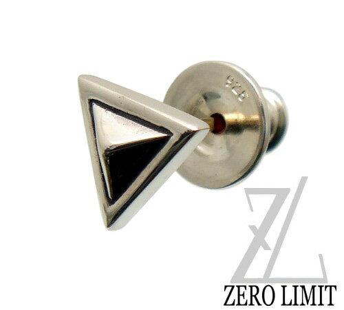 [即日発送] ZERO LIMIT-original-(ゼロリミット)【SZP-10 Triangle】シルバー950 トライアングル スタッズ ピアス K18YG ゴールド ポスト メンズ レディース ユニセックス ピアス 片耳 1点売り 方売り 3角形 モチーフ ピアス 18金製 ポスト 針 【ギフト包装-対応】