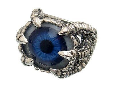 ドメスティックブランドシルバー925リアル義眼リング TSR-102ブルー【目玉の色は5色からお選びいただけます☆】[アイリング] [目玉リング] [目のリング]【11号〜27号】【smtb-k】【kb】【楽ギフ_包装】【ブルー/レッド/パープル/ブラウン/グリーン】