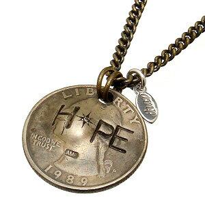 【あす楽対応】amp japan(アンプジャパン)【11AD-214】 HOPE コイン ネックレス(チェーン対)(ダイヤモンド)【ギフト包装-対応】