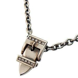 PUERTA DEL SOL(プエルタデルソル)PE328-SET ベルトバックルネックレスフリーサイズ60cmシルバーチェーン付♪w/ダイヤモンド [Diamond]【メンズネックレス】【シルバーネックレス】【smtb-k】【kb】