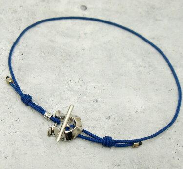 [3日以内に発送]ampjapan(アンプジャパン)【17AJK-705】馬蹄チャームブレスレットアンクレット【青色ブルーコード】【ギフト包装-対応】