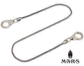 M・A・R・S(M.A.R.S/mars//マーズ)M8066C-45【ダブル クリップ ウォレット チェーン】【キー チェーン】【手錠 ネックレス】【ギフト包装-対応】【45cm】
