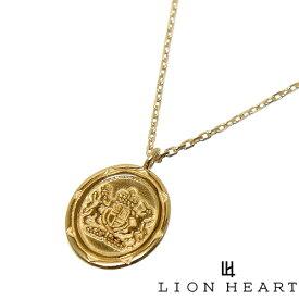 LION HEART ライオンハート 01NE0183YG ゴールド K10YG クレスト GB 国章 ペンダント ネックレス [ゴールド チェーン 付] 【ギフト包装-対応】
