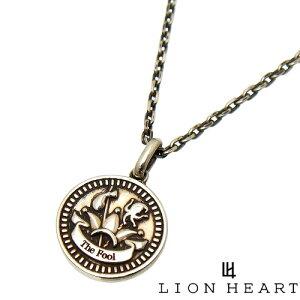 [即日発送] LION HEART ライオンハート 01NE0831FO タロット カード インテント コイン ペンダント ネックレス [チェーン 付] [THE FOOL フール 愚者] メンズ レディース ユニセックス シルバー925 両面