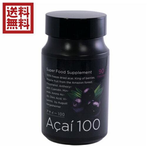 【ポイント2倍】アサイー100 90粒 ブルーベリーの約4.6倍ものアントシアニン配合