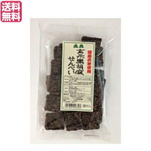 せんべい ギフト 煎餅 恒食 玄米黒胡麻せんべい 100g 送料無料