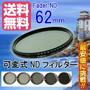 FOTOBESTWAY 可変式NDフィルターFader NDフィルター62mm