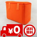 カメラインナーバッグ インナー ソフトクッションボックス インナークッションケース オレンジ