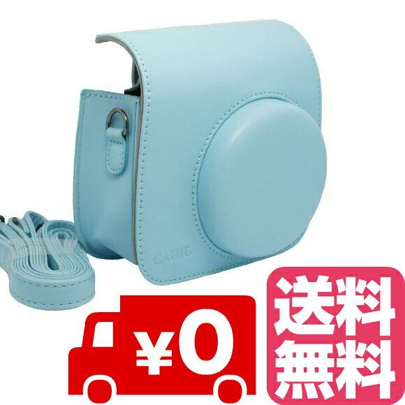 FUJIFILM インスタントカメラ チェキ instax mini 8 mini8+ プラス mini9 専用 カメラケース (ブルー)