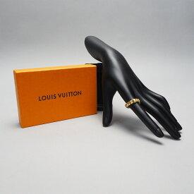 【中古】【良い】 LOUIS VUITTON ルイヴィトン バーグ ナノグラム テニスリング 指輪 ユニセックス LVロゴ GP ゴールド Mサイズ 15号相当 M64652