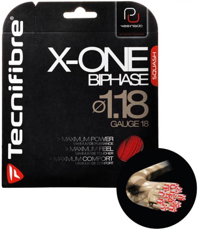 スカッシュ ストリング スカッシュ ガット Tecnifibre(テクニファイバー)スカッシュストリング X-One Biphase(φ1.18)ナチュラル【あす楽対応】【DM便発送可】