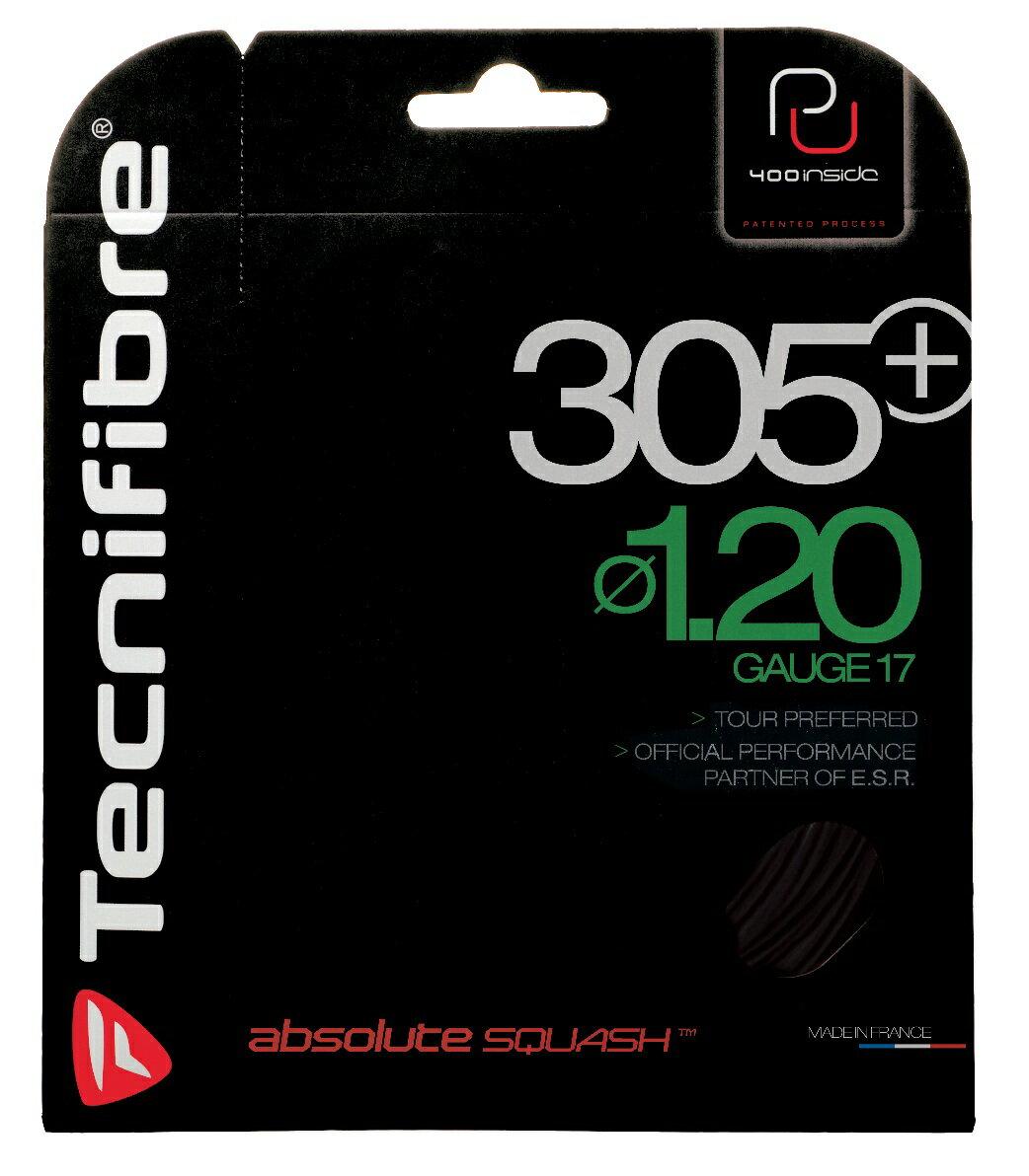 スカッシュ ストリング スカッシュ ガット Tecnifibre(テクニファイバー)スカッシュストリング 305+(φ1.20)ブラック【あす楽対応】【DM便発送可】
