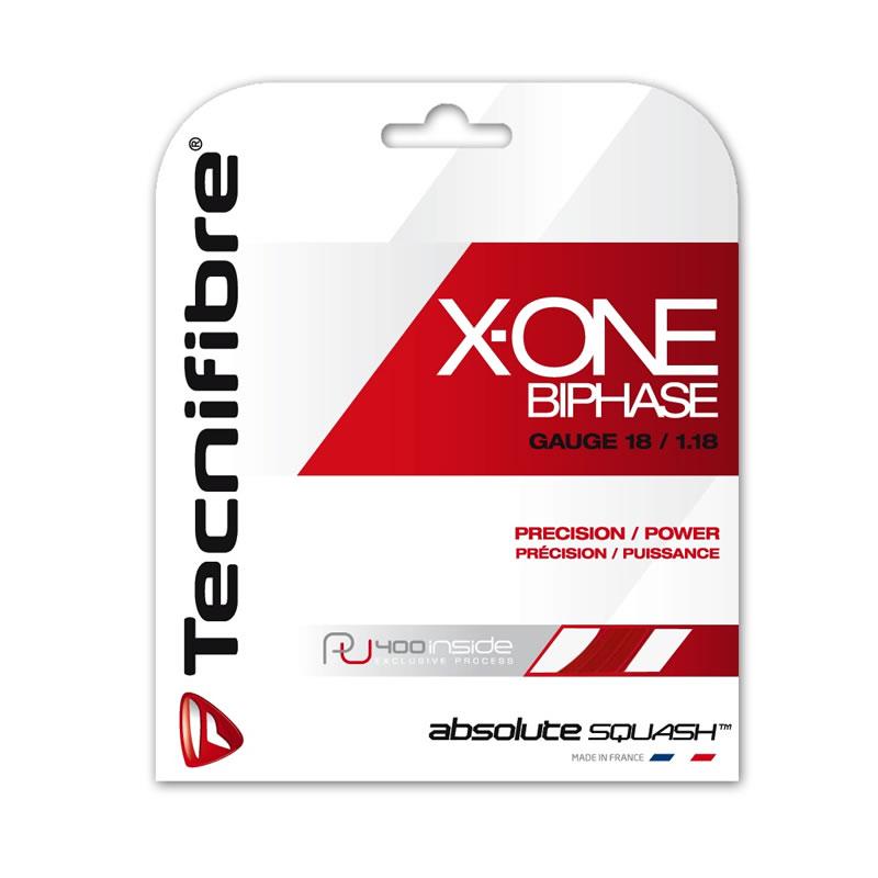スカッシュ ストリング スカッシュ ガット Tecnifibre(テクニファイバー)スカッシュストリング X-One Biphase(φ1.18) 2カラー【あす楽対応】【DM便発送可】