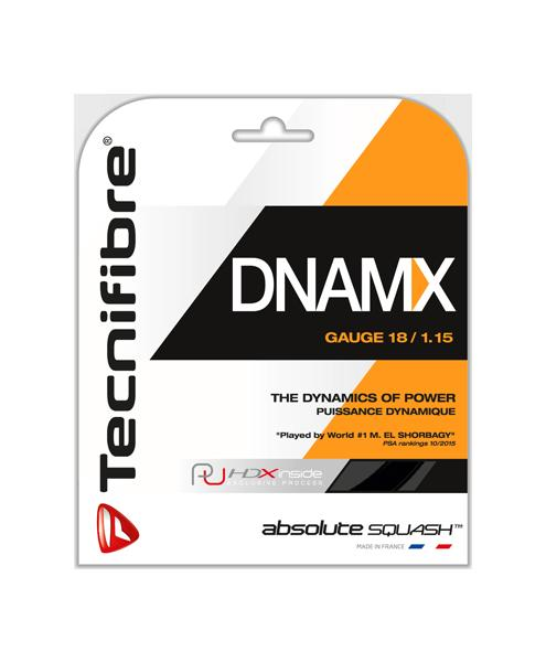 スカッシュ ストリング スカッシュ ガット Tecnifibre(テクニファイバー)スカッシュストリング DNAMX 1.15 1.20 ブラック 選択可能【あす楽対応】【DM便発送可】