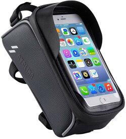【送料無料】自転車 トップチューブバッグ 自転車 フレームバッグ スマホ ホルダー 防水 防圧 日除け 大容量 多機能 携帯ホルダー 6.0インチスマホ対応 iphone android 多機種対応 防水バッグ バイク スタンド ホルダー