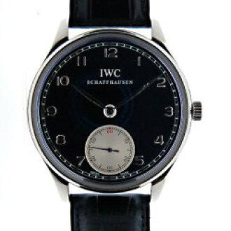 IWC インターナショナルウォッチカンパニーポルトギーゼハンドワインド IW545404 SS black rolling by hand new article