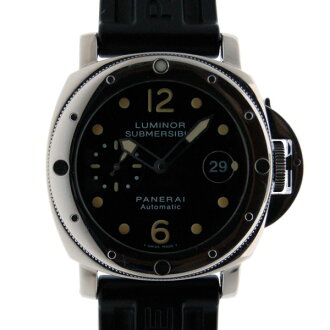 パネライ PANERAI サブマーシブルピカサブ PAM00024 SS black 44mm rubber belt self-winding watch USED
