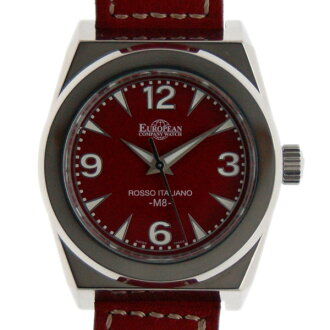 Eurpiancompanywatch ECW Panhard M8 SS 40 mm automatic winding red USED