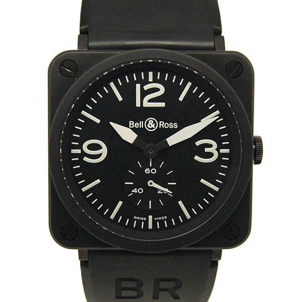ベル&ロス BELL&ROSS スクエア BRS-98-BCS 39mm ブラック セラミック クォーツ USED 【中古】