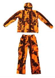 【沖縄・離島への配送不可】期間限定 特別価格 トップシューターリバーシブル迷彩ジャケットオレンジ迷彩パンツ 上下セットXLサイズ