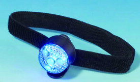 マジックテープで簡単装着 スーパークリップライト ストロング+腕章 青